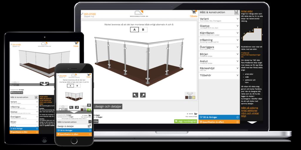 Designverktøyet er lett å anvende både på pc, nettbrett og mobil.