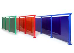 Glassrekkverk i valgfri farge