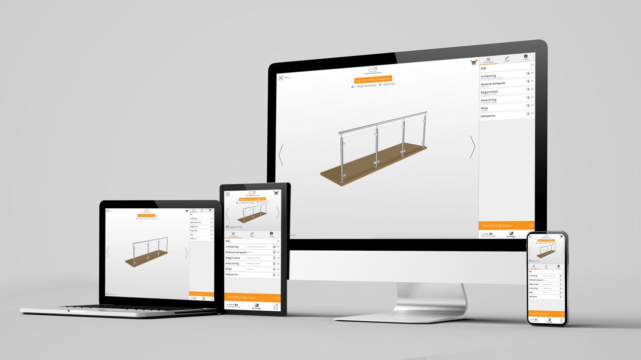 Designverktøyet er lett å anvende både på pc, nettbrett og mobil