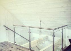 Rekkverk trapp i rustfritt